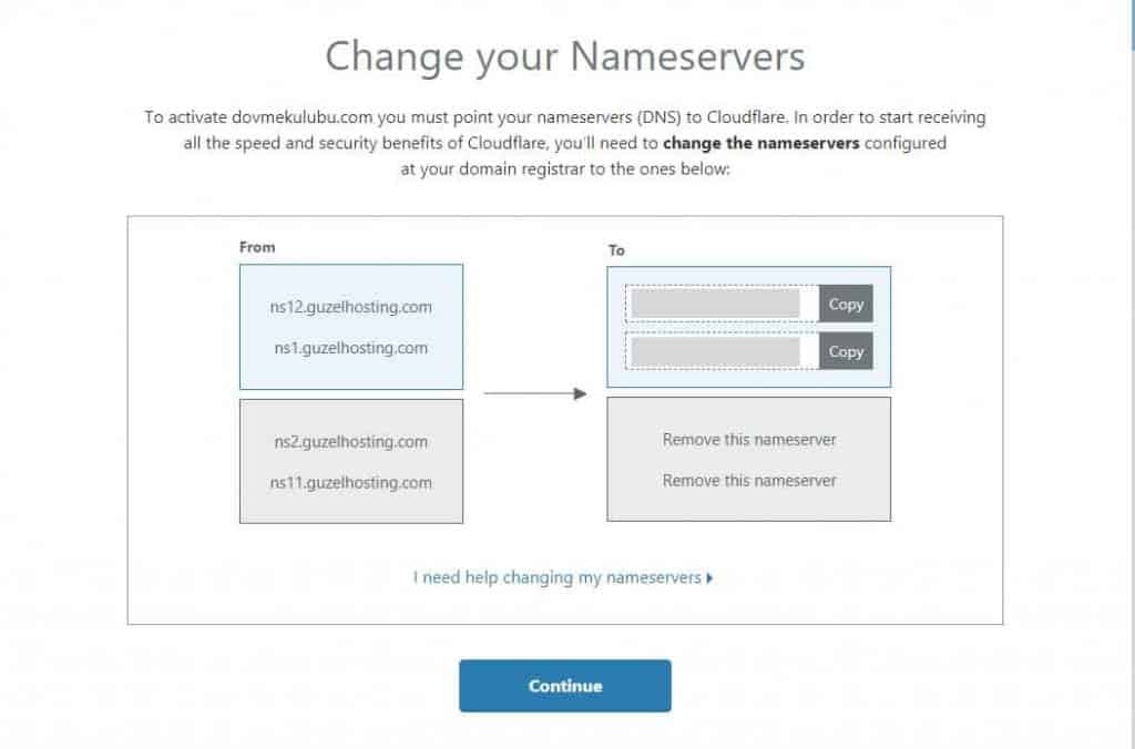 Change Your Nameserver